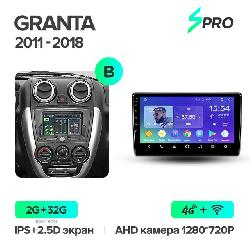 Штатная магнитола Teyes SPRO для LADA Granta Sport 2011-2018 на Android 8.1 B 4G+WiFi 2Gb + 32Gb